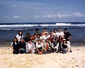 Group photo at Pantai Kukup