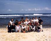 Group photo at Pantai Kukup
