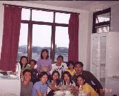Having a delicious feast at Ibu Fanny's apartment!