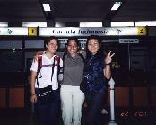 A photo with our tutor Linda at the Yogyakarta Airport